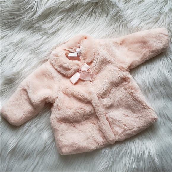8bac45e5c11 koala baby boutique Jackets & Coats | Pink Faux Fur Coat 03 Mos ...